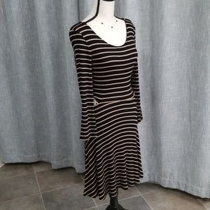American Eagle NWOT striped dress with waist cut o